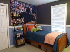 Love the wall colors- the top color is Peppercorn by Sherwin Williams