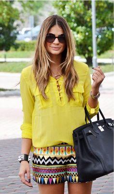 Amarelo para um look bem alegre