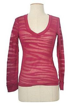 Sexy V Neck Zebra Lace Long Sleeve Cropped Sheer Burnout Fitted Tee Shirt Top