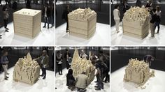 """OPEN Architecture Creates """"Disappearing"""" Stone Installation for Marmomac Festival"""