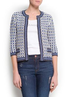 Mango Women's Checked Knit Cardigan - Helges MANGO. $79.99