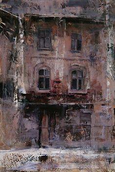 The House by Tibor Nagy Oil ~ 23.4 x 15.7