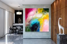 Items similar to Large Modern Wall Art Painting,Large Abstract wall art,texture art painting,abstract originals,bathroom wall art on Etsy Bright Paintings, Unique Paintings, Abstract Paintings, Oversized Canvas Art, Large Canvas, Gold Canvas, Texture Painting, Texture Art, Painting Art