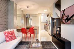 Lindo projeto de um apartamento duplex para uma jovem solteira. Ótimas ideias.