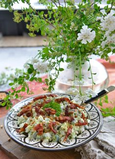 Verdens beste brokkolisalat – Francisco's Beautiful World – Oppskrifters Beautiful World, Feta, Potato Salad, Nom Nom, Cabbage, Grilling, Food And Drink, Favorite Recipes, Lunch