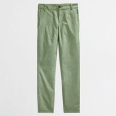 JCrew Factory Frankie Chino Pant Size 2 Sage green, stretch cropped pants. Very comfortable and in excellent condition. J. Crew Pants Ankle & Cropped