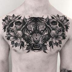 Full Chest Tattoos, Half Sleeve Tattoos For Guys, Chest Tattoos For Women, Chest Piece Tattoos, Shoulder Tattoos For Women, Baby Tattoos, Star Tattoos, Celtic Tattoos, Skull Tattoos