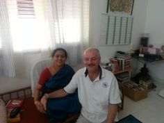 Me with Guru Mata Amma at her Ashram in Bangalore - India
