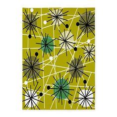 Atomic rug 8 5x7'Area Rug on CafePress.com