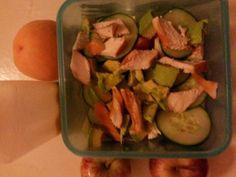 Lunch for wrk.#chicknavosalad..#homemadesaladdressing..#yummyinmytummy
