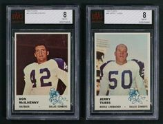 up4auction - 1961 Fleer Football BVG BGS Registry Lot of (6) BVG 8's including McIlhenny, Tubbs & More