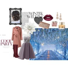 Winter Wedding by wevinka on Polyvore featuring Aquatalia by Marvin K., Jessica McClintock, Kate Spade, Lime Crime and Givenchy