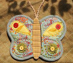 Butterfly Potholder 10 by PatchworkPottery, via Flickr