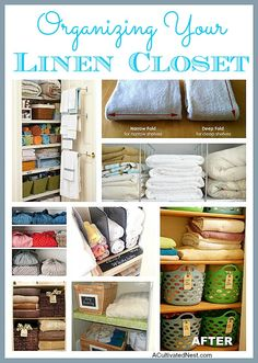 Fantastic ideas for organizing your linen closet!
