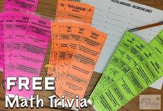 Grab these free math trivia cards when you sign up for my monthly email (if you're already signed up, these came to you in a recent email). {Link in profile}. #mathteacher #math #teachingmath #middleschoolmath #middleschool #middleschoolteacher #te