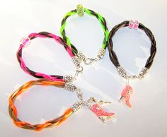 Colorful horsehair jewelry