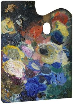 Matthias Schaller, Palette of Wassily Kandinsky (Portraits of the Palettes of Famous Dead Artists | Hyperallergic)