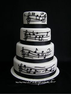 Music themed wedding cake this will be helpful inspiration for our wedding cake. 9.21.13