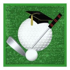 Golf  Graduation - SRF Invitations