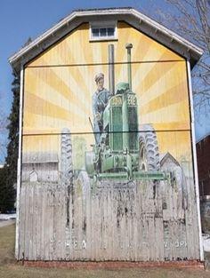 """John Deere"" Barn Mural"