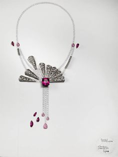 The gouache drawing is a key step which defines the characteristics of a Piaget jewelry creation