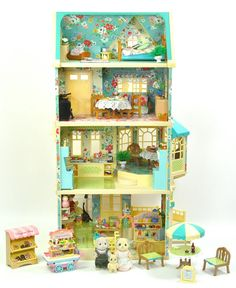 details about sylvanian families decorated applewood housecafeshop furniture figures lots - Sylvanian Families Living Room Set