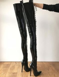 color: as shown or custom colormaterial: synthetic material MADE TO ORDER (NOT IN STOCK)- crotch hi boots in personalized shaft height and circumference- 7 Leather High Heel Boots, Thigh High Boots, Over The Knee Boots, Heeled Boots, Shoe Boots, Women's Boots, Hot High Heels, Sexy Heels, Crotch Boots