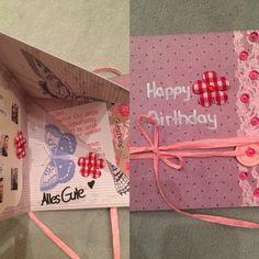 Geburtstagskarte zum falten und klappen
