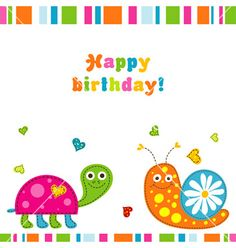Children birthday card vector 880778 - by Tolchik on VectorStock®
