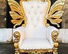 Fire throne chair   Etsy Live Edge Furniture, Throne Chair, Butterfly Fairy, Woodland Fairy, Wingback Chair, Backyard Patio, Fire, This Or That Questions, Amy