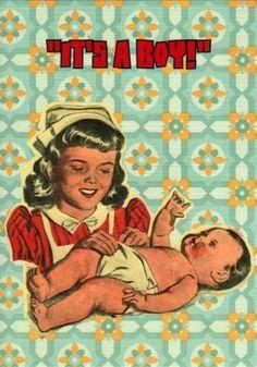 Ansichtkaart Bizarr - it's a boy