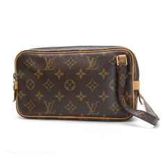 Louis Vuitton Pochette marly Bandouliere Monogram Cross body bags Brown Canvas M51828