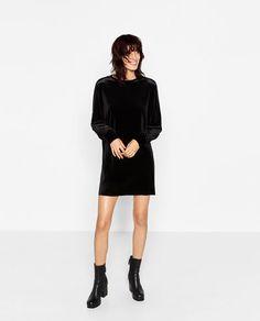 Image 1 of STRAIGHT VELVET DRESS from Zara