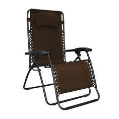 Caravan Sports Infinity Oversized Zero Gravity Chair, Brown