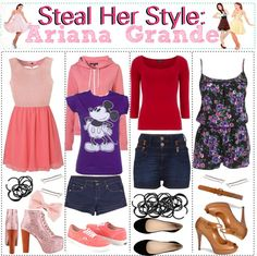 """""""Steal Her Style: Ariana Grande"""" by tipsforthefuture ❤ liked on Polyvore"""