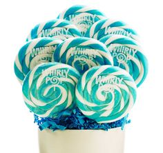 Blue and White Whirly Pops $2/each or $14/8ct