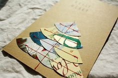 craft, sew, upcycle christmas cards into christmas cards!