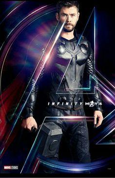 Chris Hemsworth as Thor - The Avengers: Infinity War, 2018 Marvel Avengers, Marvel Dc Comics, Marvel Heroes, War Comics, Tony Stark, Fan Art, Thor Wallpaper, Mundo Marvel, Die Rächer