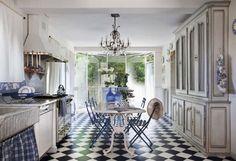 Bildergebnis für küche schwarz weiß landhaus