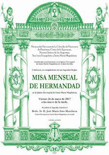 COFRADES DE ARAHAL: Misa Mensual de la Hdad. de la Esperanza de Arahal...