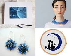 Once In A Blue Moon by Ana Cravidao on Etsy--Pinned with TreasuryPin.com - 2015-07-31
