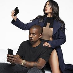 """I love her nude selfies. Like, I love ones from the side, the back ones, and the front. I just love seeing her naked; I love nudity. And I love beautiful shapes. I feel like it's almost a Renaissance thing, a painting, a modern version of a painting. I think it's important for Kim to have her figure. To not show it would be like #Adele not singing."" —#KanyeWest on @KimKardashian's selfies. Go to the link in our profile to read the full interview by @LauraBrown99 and fashion shoot by…"