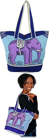 Matchbox Elephant Tote Bag at The Animal Rescue Site - I already have way too many reusable shopping bags, but this one is really different and quite stylish, so what the heck...!
