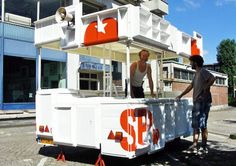 2012 Architecten designed this awesome mobile ice cream stand using recycled refrigerators!