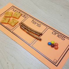 Love this place value activity that did with her students! Kindergarten Math Activities, Fun Math, Teaching Math, Math Games, 1st Grade Activities, Math 2, Teaching Time, Teaching Ideas, Place Value Activities
