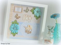 Design by Suzi: It´s a boy 2 Scrapbooking, Candles, Boys, Frame, Design, Home Decor, Baby Boys, Picture Frame, Decoration Home