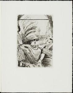 """Gravure d'André Dignimont, in Colette, """"Clouk et Chéri,"""" Paris, Amis de Colette, 1935. [Included in """"Les cahiers de Colette"""" 1)"""