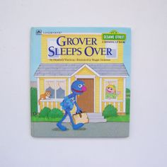 Sesame Street Grover Sleeps Over A Growing by MyForgottenTreasures, $6.00