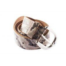 Riem met slangenprint en metalen gesp. Mooie riem met vele combinaties mogelijk | brown | black.