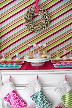 Love these colors for kids Christmas party